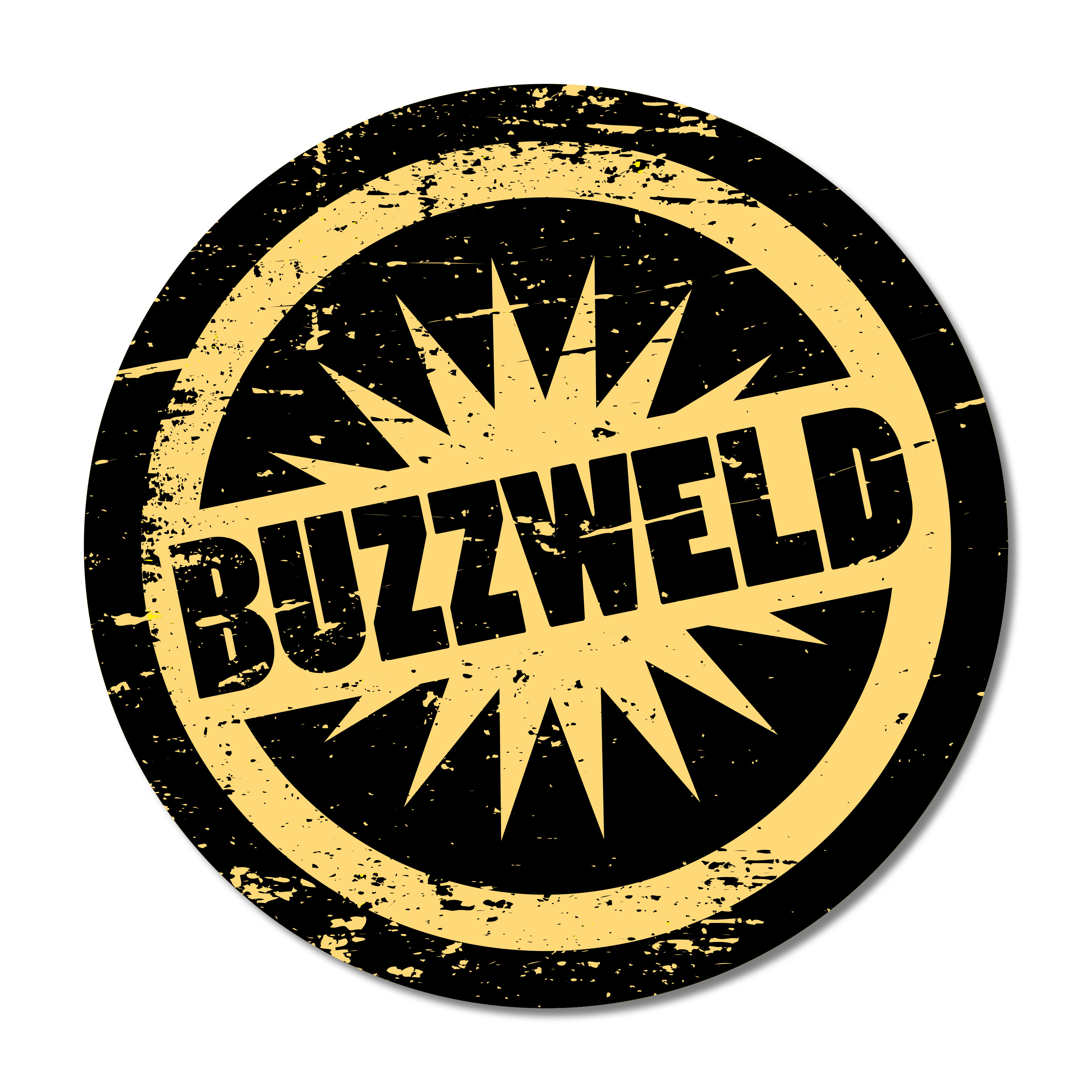 Buzzweld New style Round stickers