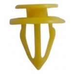 Yellow 8mm Panel Trim Clips x10
