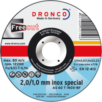 DRONCO AS 60 T INOX FREECUT 2>1 mm cutting disc