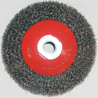 Dronco 100mm Heavy-Duty Tapered Wire Brush Wheel Crimped