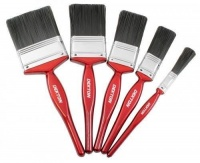 5 Piece Durable Paint Brush Set 12-60mm For All Paint Types