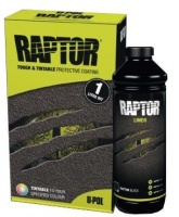 RAPTOR: Durable Bed Liner + Protective Coating BLACK glass flake optional