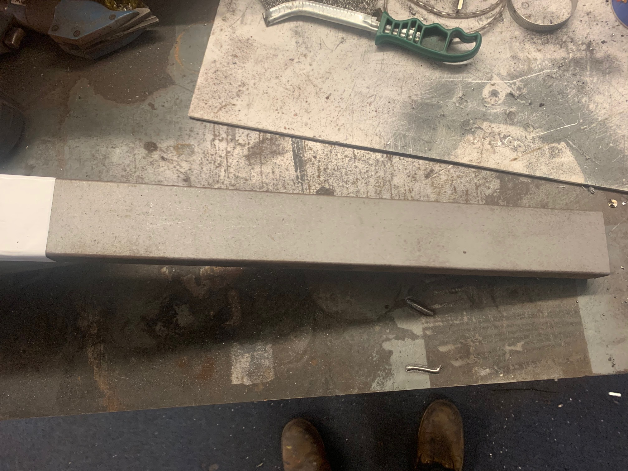 Zinc Rich Primer testing on blasted steel