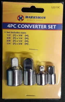 4pc socket converter set