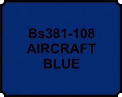 Aircraft Blue BS381 108 Aerosol Paint