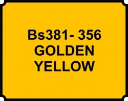 Golden Yellow BS381 356 Aerosol Paint