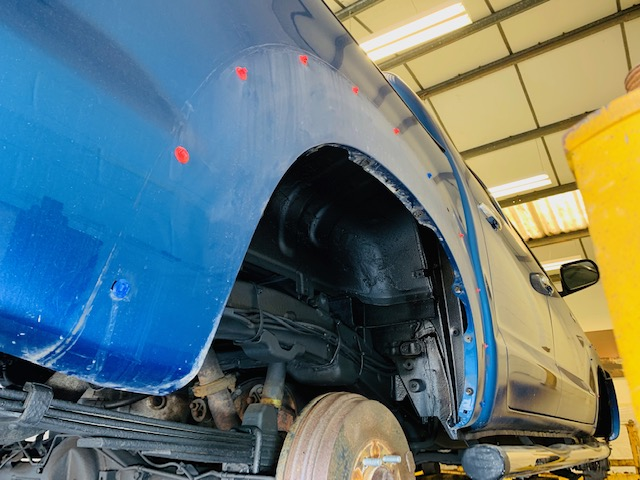 Toyota Hilux MK7 Arch spat version Utility Rustproofing