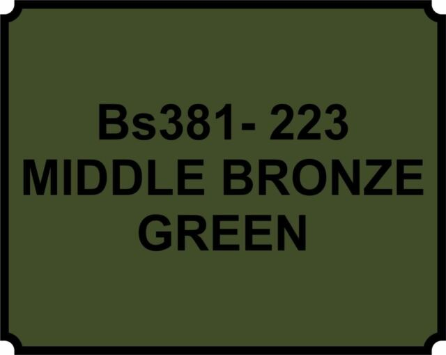 Mid Bronze Green BS381 223 Aerosol Paint