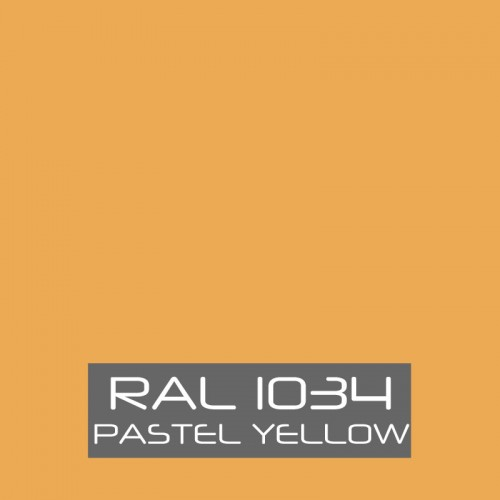 RAL 1034 Pastel Yellow tinned Paint