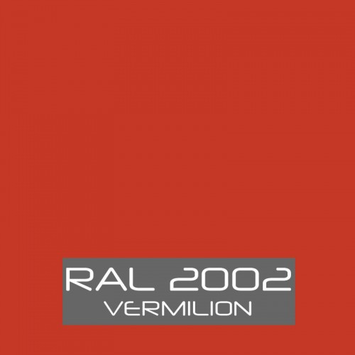 RAL 2002 Vermilion tinned Paint
