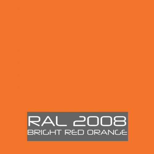 RAL 2008 Bright Red Orange tinned Paint