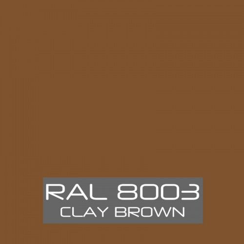 RAL 8003 Clay Brown tinned Paint