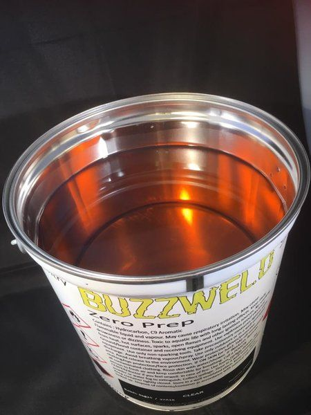 Buzzweld Zero Prep CLEAR coat cavity wax internal